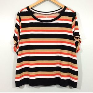 Lane Bryant Striped Crop Top Size 18/20
